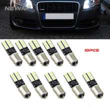 10pcs BA9S 24SMD 4014 LED Car Light Bulb Parking Lights Canbus Error Free Auto Lamp Led for Mercedes W210 E420 4pcs car bulb canbus error free ba9s t4w h6w led white 4014 24smd 4 8w led automotive light lamp 12v parking 57 233 w6w t11