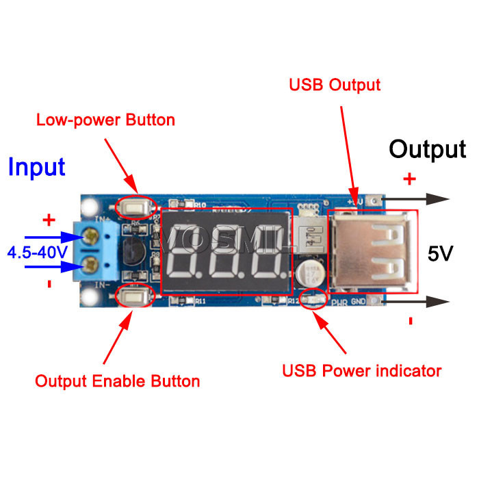Usb output diagram wiring diagram 5pcs dc dc converters 4 5 40v to 5v 2a buck power supply car battery usb voltage output usb output diagram ccuart Image collections