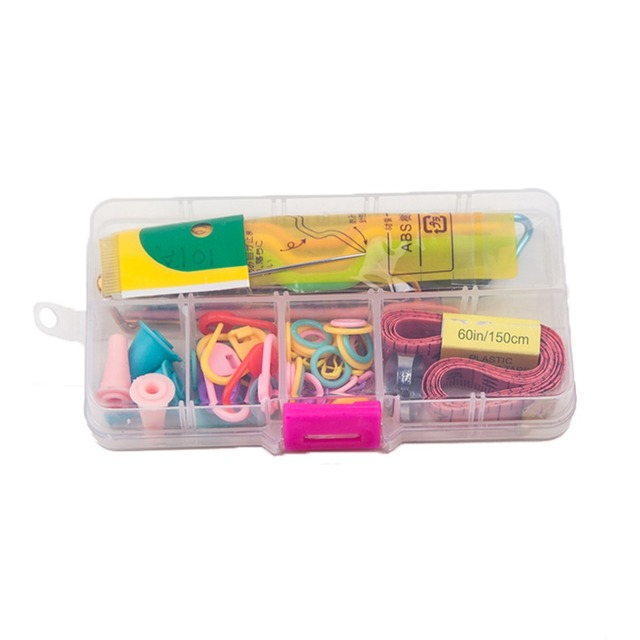 58pcs Quality Detachable White CaseSewing Kit Household Tools Crochet Kit  Free Shipping