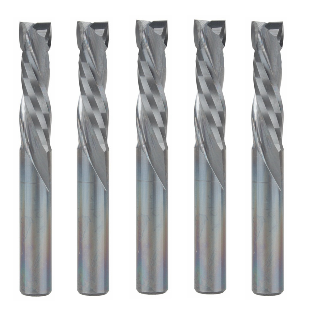 5pcs Up Down Cut 5MM AAA Solid Carbide CNC Router Endmill Compression Wood Tungsten End Milling Cutter Tool Bit5pcs Up Down Cut 5MM AAA Solid Carbide CNC Router Endmill Compression Wood Tungsten End Milling Cutter Tool Bit