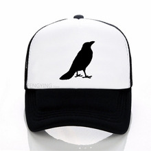 цена на Three-eyed crow New Game of Thrones Baseball Cap Men All Men Must Die hat Men Women summer Mesh Net Trucker Cap Dad Hat