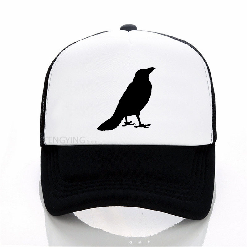 Three-eyed crow New Game of Thrones   Baseball     Cap   Men All Men Must Die hat Men Women summer Mesh Net Trucker   Cap   Dad Hat