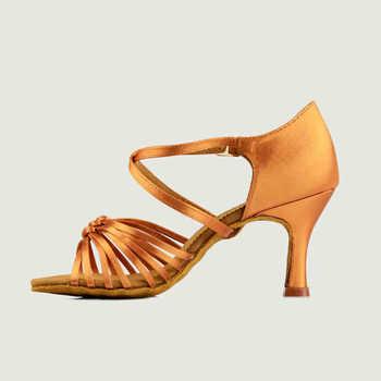 Ballroom Latin dance shoes women Salsa Tango BD 286 shoes Free shoes bag Deep skin and black Knot Sneakers Latin shoes Sports