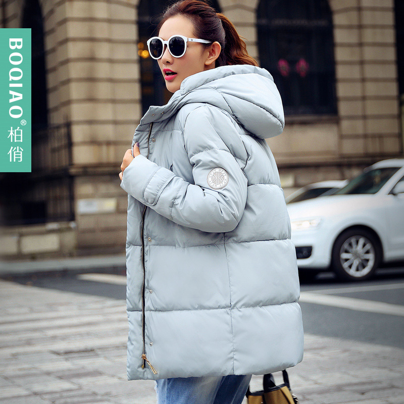 2017 new winter coats padded female in the long loose size female thickening women parkas 2017 new coats