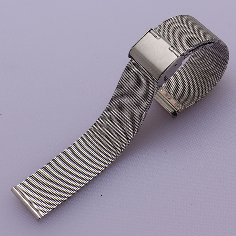 Watch Strap Shark Mesh Chainmail STAINLESS STEEL Band Bracelet 12mm 14mm 16mm 18mm 20mm 22mm 24mm promotion folding buckle mens
