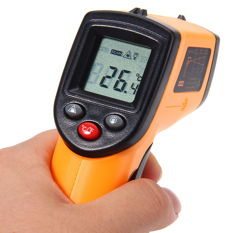 GM320 Infrared Thermometer Non-contact Temperature Tester LCD Display IR Laser Point Gun Diagnostic-tool Digital Thermometer benetech gm320 1 2 lcd infrared temperature tester thermometer orange black 2 x aaa