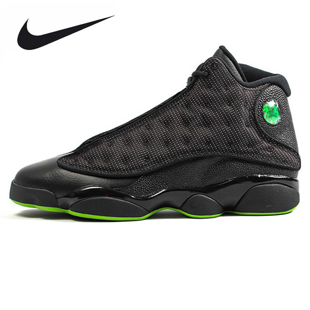 37c0aeddd24fa6 ... top quality nike air jordan 13 retro altitude green mens sports basketball  shoes original outdoor 01634
