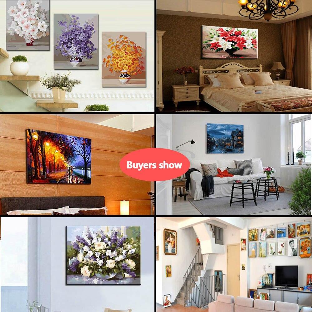 DIY malen Nach Zahlen Kits auf Leinwand Ölgemälde für Wohnzimmer ...