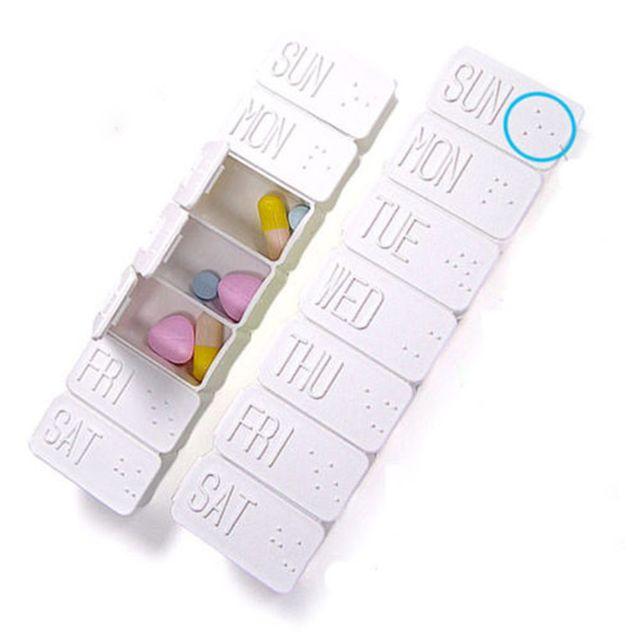 1PC nowy 7 dzień tygodnik styl rano w nocy uchwyt na pigułki do przechowywania organizator plastikowy pojemnik Case przenośne podróżne pudełeczko na tabletki
