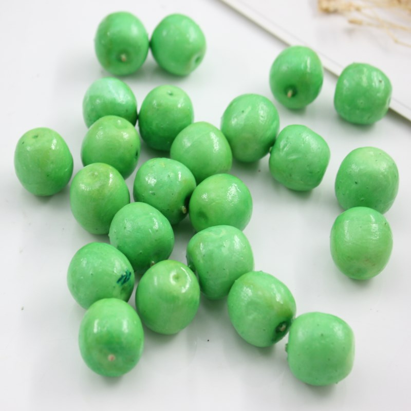 10 Pcs Green Apple 2 Cm Home Decor Artificial Simulation Of Apple Fruit Fake Wedding Party Home Decoration Photo House Prop