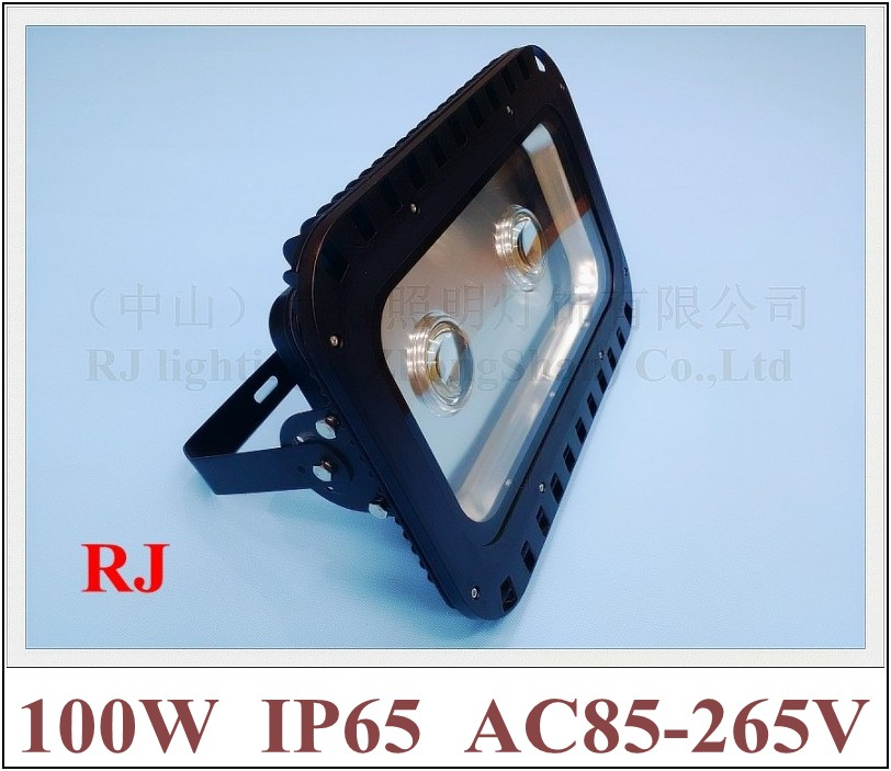 with lens 90 degree of emitting angle LED flood light 100W (2 X 50W) floodlight spot light tunnel light AC85-265V 8000lm IP65