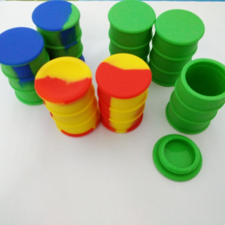 100 Oil Drum Barrel Wax Containers Silicone Bho Container For Wax Silicone Jars Dab Wax Container 50 X 44 Mm