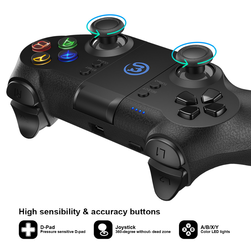 GameSir T1s Bluetooth Sans Fil Contrôleur de Jeu Gamepad pour Android/Windows/VR/TV Box/PS3 - 4