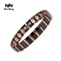 WelMag Magnetic Ceramic Bracelets Gold Plated Charm Bracelets Link Chain Fashion Bangles Trendy Lovers Wristband Jewelry