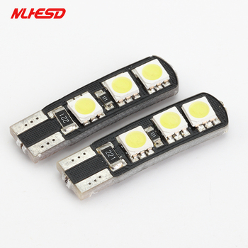 10pcs T10 6SMD 5050 CANBUS W5W 6LED DC12V NO WARNING Error Free 6 Smd Canceller Auto Led Marker Bulbs Interior Lighting