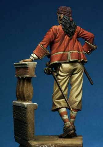 75mm Anne Bonny  ancient times  Caribbean woman Pirates Resin Model Kit figure Free Shipping