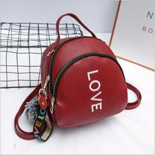 Women Fashion Summer Mini Flap Bag Love Letter Small travel anti theft BackPack Female Shoulder Bags For Teenager Girls 3 Colors