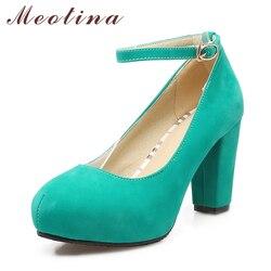 Meotina high heels women pumps plus size 33 43 platform thick heels ladies wedding shoes bridal.jpg 250x250