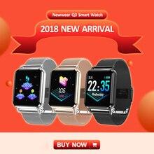 [IN STOCK] Newwear Q3 Smartwatch Pedômetro Freqüência Cardíaca de Oxigênio No Sangue Pressão Dinâmica Das Mulheres Dos Homens do Sono APP Discagem Personalizado relógio inteligente
