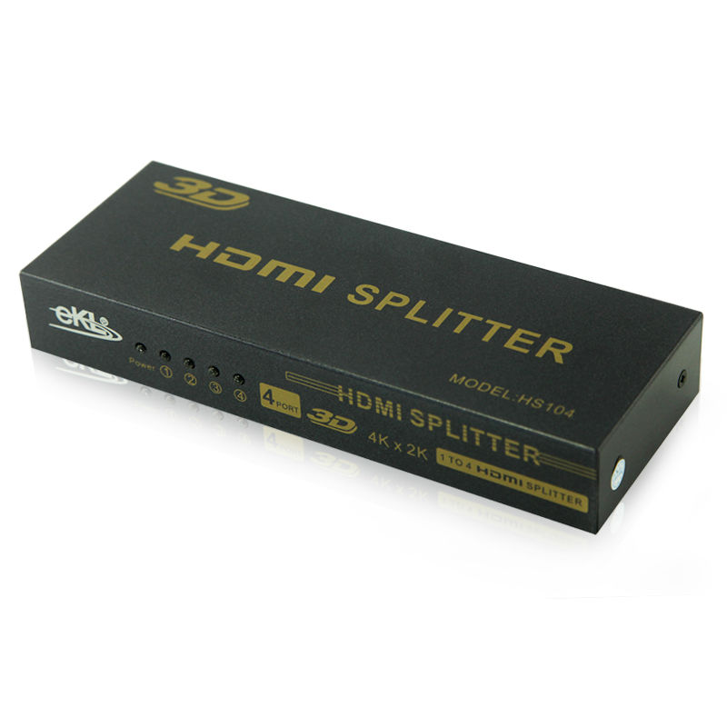 ФОТО EKL HDMI Splitter 4 Port Amplifier Repeater Full HD 4k*2k HDMI1 in 4 out HDCP 3D 1080P