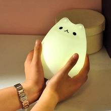 Светодиодный ночник плафоны для ламп настольная лампа мечта милый кот зарядка через USB для детской спальни