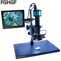 FGHGF 2 Megapixel Electronic Microscope With Cross Cable CCD 0745C Lens 8 inch Display Repair Magnifying Glass SMT / BGA Chip