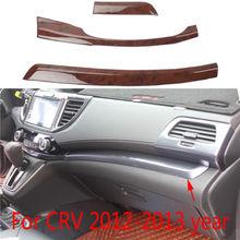 3X центр управления панель DEC литья крышка отделка Подходит для HONDA CR-V CRV 2012 2013