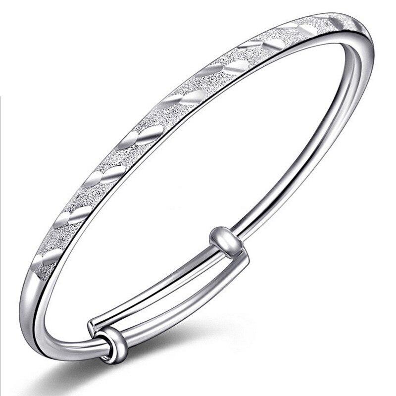Новый метеорный поток трубки раздвижные матовое Браслеты 925 серебро браслет ребенка Для женщин ювелирные изделия оптом