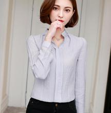 Women Long Sleeve Chiffon Blouse Blusas Autumn New Fashion OL Office Slim Solid V-neck Women Blouses Plus Size White Red Shirt