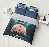3D motion Basketball Printed Bedding Sets Duvet Cover Set 3pcs Bed Set Twin Double Queen size Bed linen boy/men/adult Bedclothes