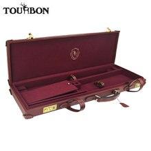 Tourbon охотничье ружье дробовик футляр для хранения с замками из натуральной кожи Перевозчик охотничье ружье аксессуары