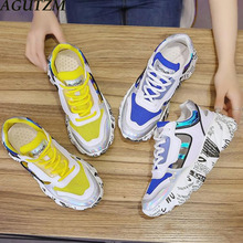 Women Sneakers 2019 summer new thick-soled old dad shoes Mesh breathable casual shoes mesh hollow sports sandals women Z76 881219329808 xtep old shoes men 2019 summer mesh breathable casual shoes students thick bottom old shoes