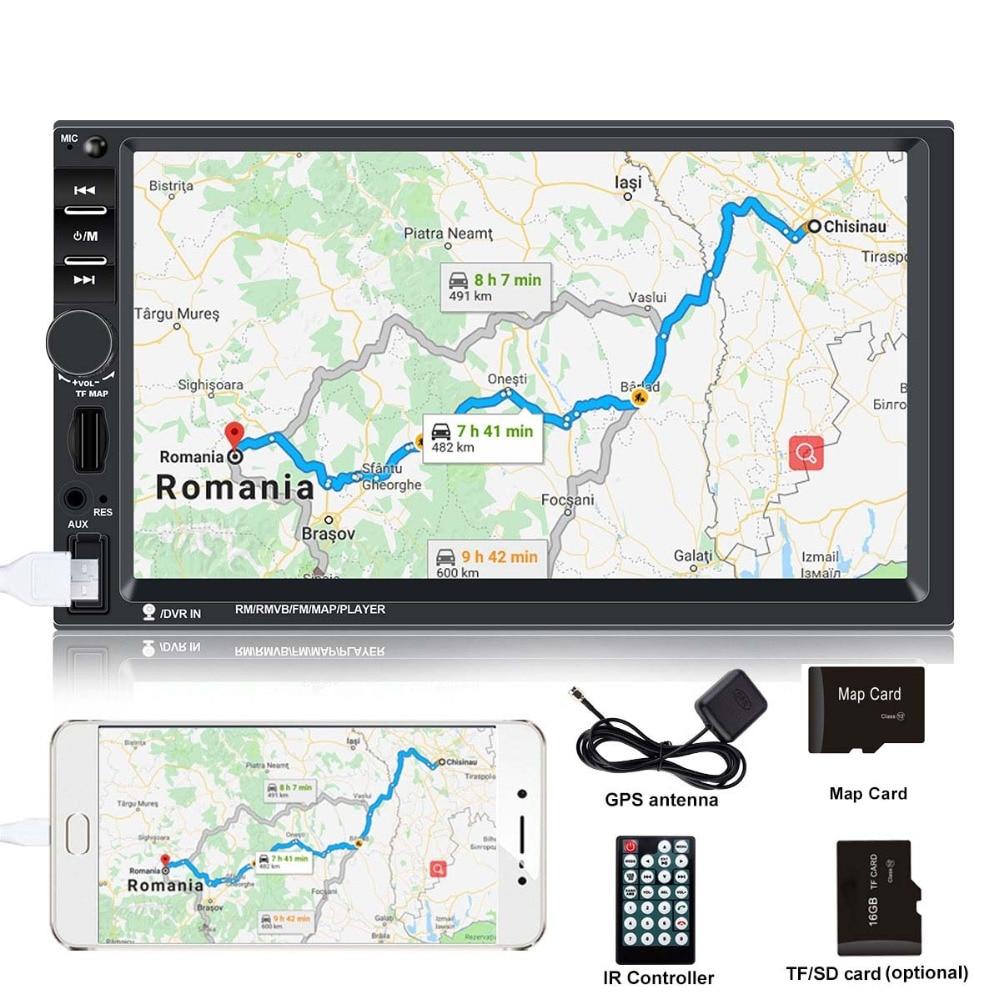 Autoradio 2 din gps 7 pouces ecran tactile autoradio voiture lecteur multimédia auto radio GPS Navigation pour autoradio