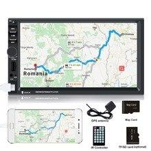 Autoradio 2 din gps 7 pollici touch screen car radio car multimedia player auto radio GPS di Navigazione per auto Stereo