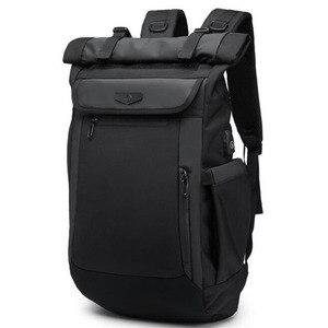 Image 1 - Large Capacity Men Backpacks Waterproof Multifunction 18 19 Inch Laptop Backpack For Teenager Schoolbag Travel Mochilas Bagpack