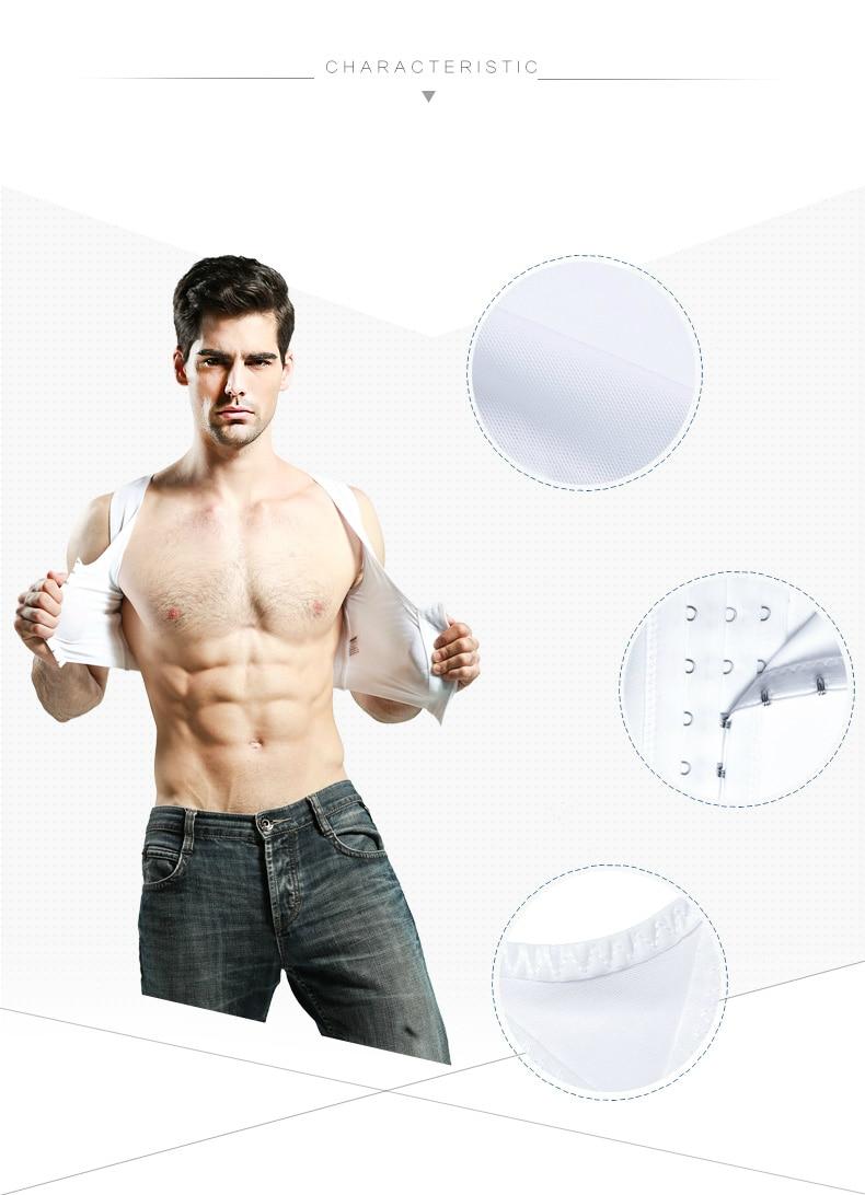 Hommes: vêtements Sous-vêtements Royaume-Uni Homme Minceur Gaine Shapewear mâle Corset Gyno shirt estomac Aplatissement Gilet