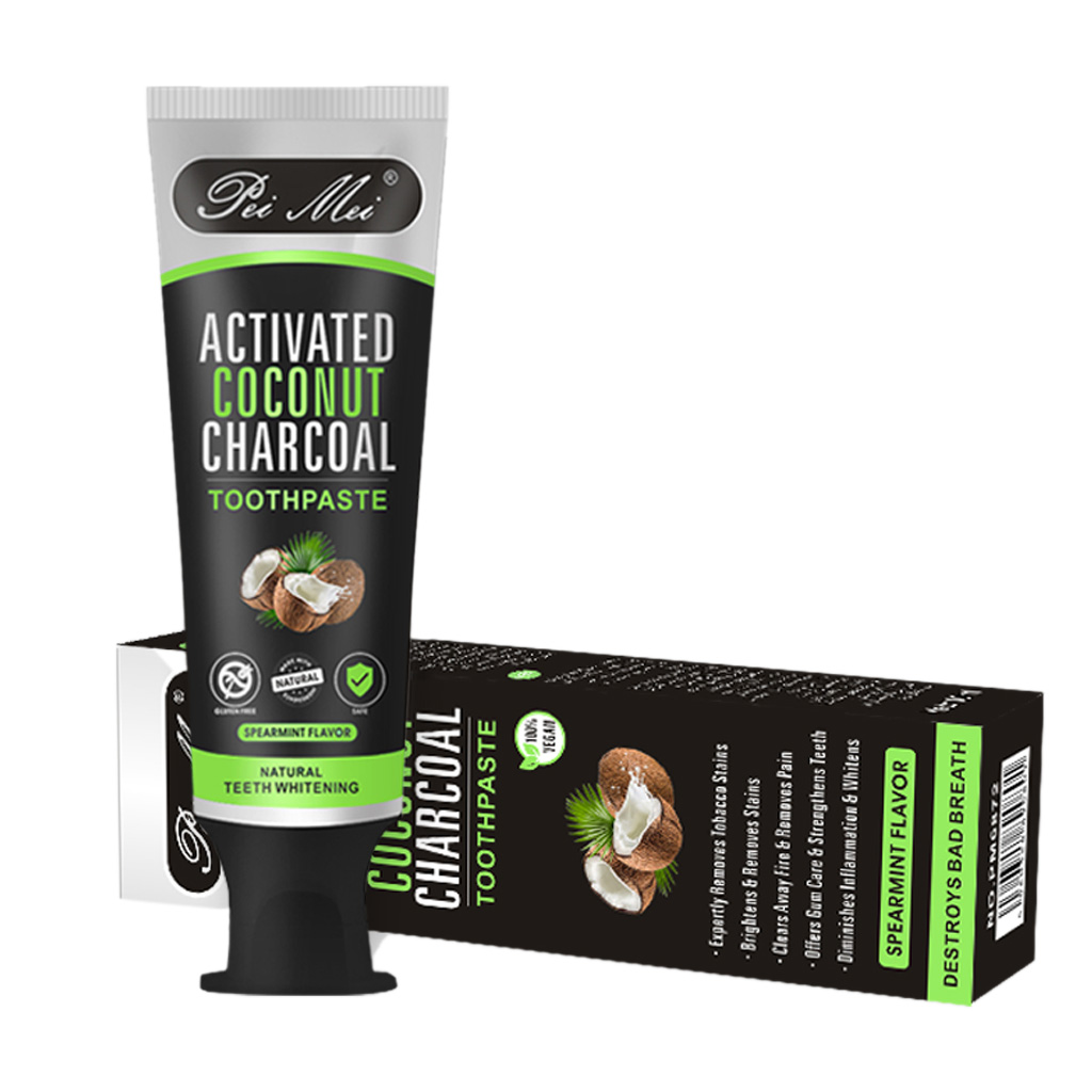 Fresh Picked Beauty Radiant Skin Activated Charcoal: 100g Coconut Shell Charcoal Activated Adult Toothpaste