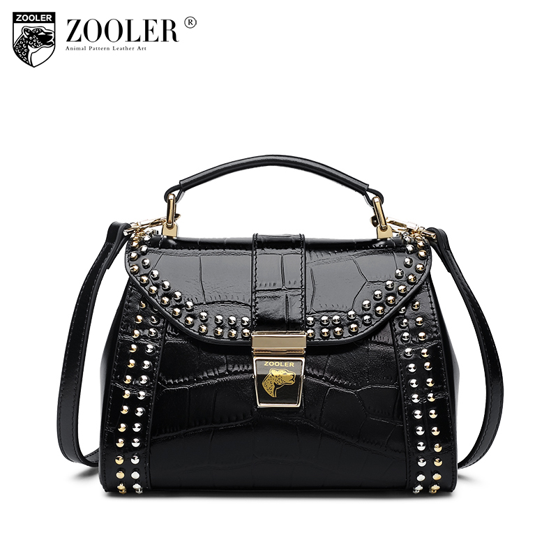 ZOOLER OL Style Genuine Leather Small Handbag Ladies Real Leather Tote Bags Handbags Women Famous Brands Messenger Shoulder Bag zooler 100% real natural genuine leather women small handbag high quality famous design brand bags tassel shoulder messenger bag