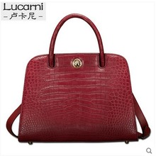 lukani crocodile Female bag real leather crocodile belly fashion big capacity single shoulder cross bag