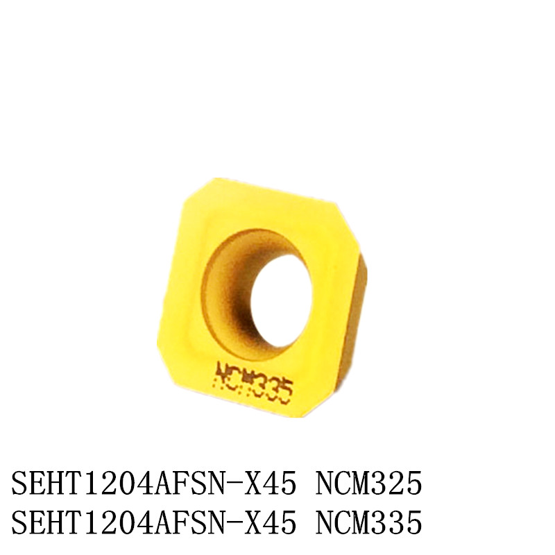 Free Shipping Good Quality 10 PCS/set Carbide CNC Blade Square Milling Cutter Insert SEHT1204 SEHT1204AFSN-X45 NCM325/335