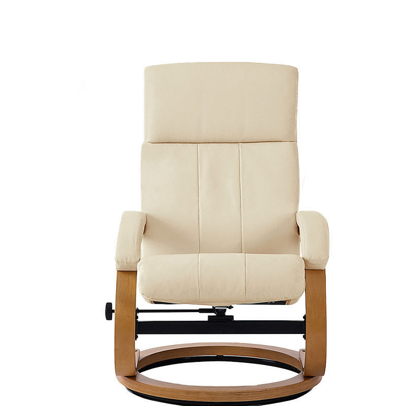Moderna Silla Giratoria de Cuero Tapizados Chaise Lounge con Otomana ...