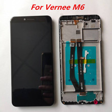 الأصلي 5.7 ل Vernee M6 LCD عرض + شاشة تعمل باللمس الجمعية محول الأرقام إصلاح أجزاء ل Vernee M 6 الهاتف التبعي + أدوات