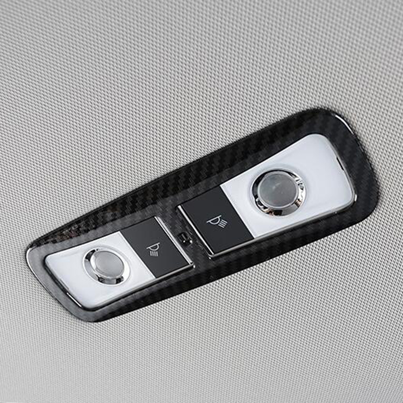 For <font><b>Honda</b></font> <font><b>Accord</b></font> 10th <font><b>2018</b></font> 2019 ABS Matte and Carbon fibre Car Rear reading Lampshade panel Cover trim <font><b>Accessories</b></font> car styling image