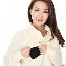 Stylish Nursing Turtleneck Shirt