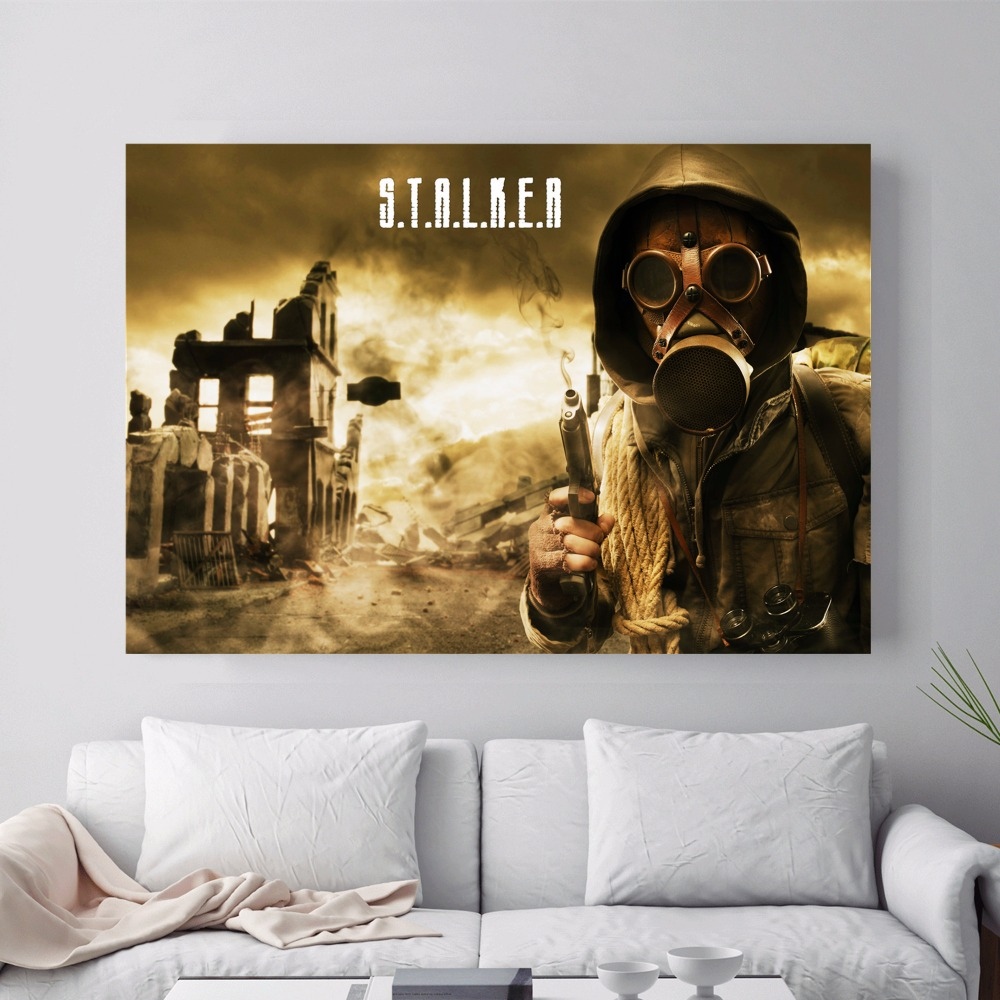 Stalker Figure Game Canvas Art Print Painting Poster Wall Pictures For Living Room Home Decoration Decor No Frame