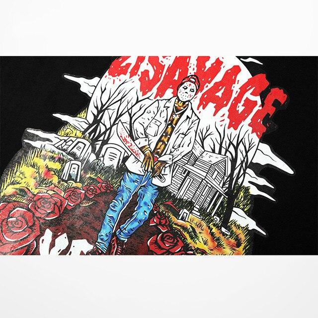 European American Street Wear Tide Brand Funny T Shirts Men Rock Punk Dance T-shirts Skateboard Hip Hop Drake Souls Tee Shirt 4