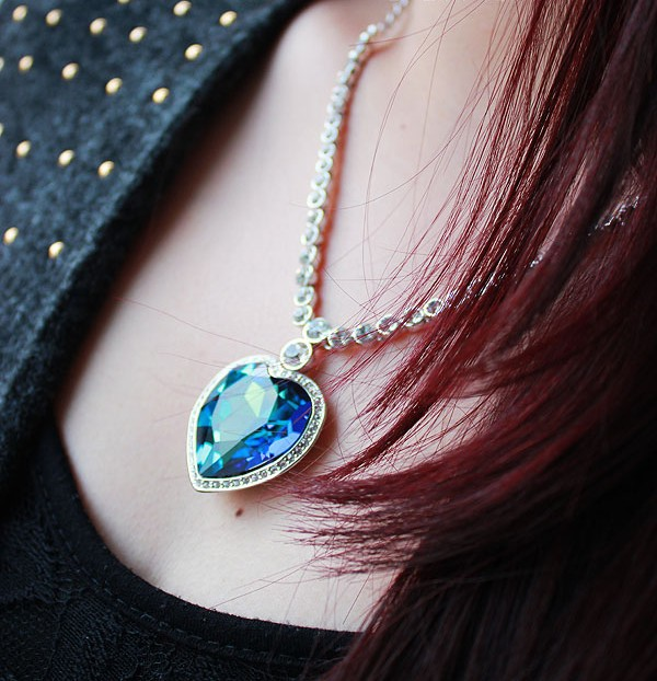 The Heart of The Sea Fashion Blue Classic Jewelry Sea Heart Necklace Austria Crystal Titanic Heart Pendant марк бойков the resurrection of titanic