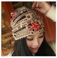 2015 Новая Мода Флаг Шапочки для Женщин и Вэнь Hat Две Модели для Зимы и Весны Для Выбирают
