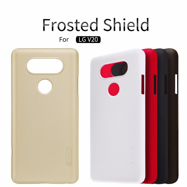 premium selection 8fd75 62e76 US $7.19 5% OFF|FOR LG V20 case LG V20 cover NILLKIN Super Frosted Shield  matte hard back cover case with free screen protector-in Half-wrapped Case  ...