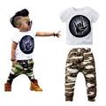 2Pcs Newborn Baby Boy Clothing Set Short Sleeve T-Shirt + Long Pants Cotton Sport Clothing Suit Infant Bebe Printed Clothes